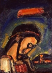 """Crocifissione"" - dipinto - 1937 - «the Foundation Georges Rouault» Parigi - Francia"
