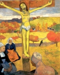 """Crocifissione: Cristo giallo"" - dipinto - 1889  - «Albright-Knox Art Gallery» Buffalo (New York) - Stati Uniti d'America"