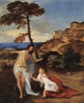 """Noli me tangere"" - dipinto - 1511-12 - «The National Gallery» Londra - Regno Unito"